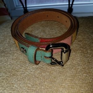 Accessories - Fossil multi color skinny belt XL
